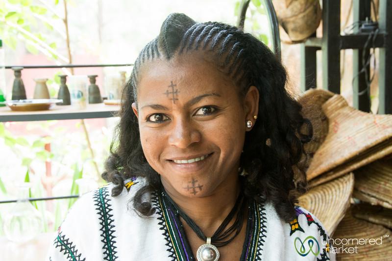Ethiopian Woman with Tatoos - Gondar, Ethiopia