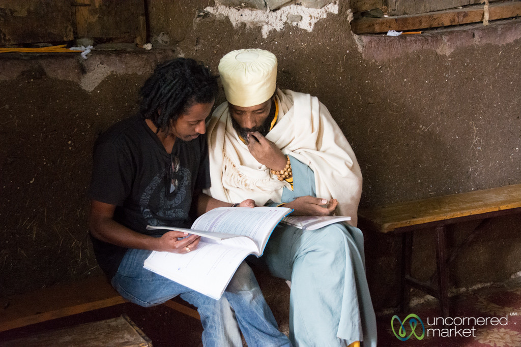 English Language Lesson at Debre Birhan Selassie Church - Gondar, Ethiopia