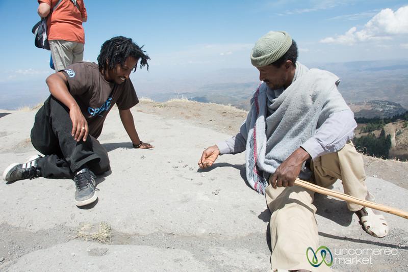 Playing Mancala in Hills Near Lalibela, Ethiopia