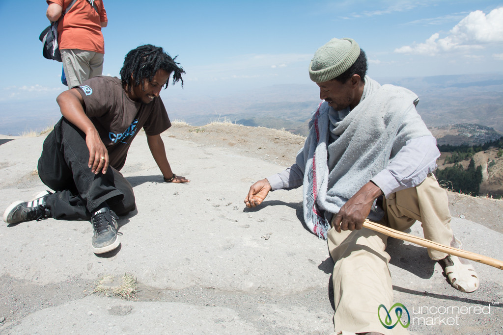 Playing Mancala in Hills Near Lalibela, Ethiopia