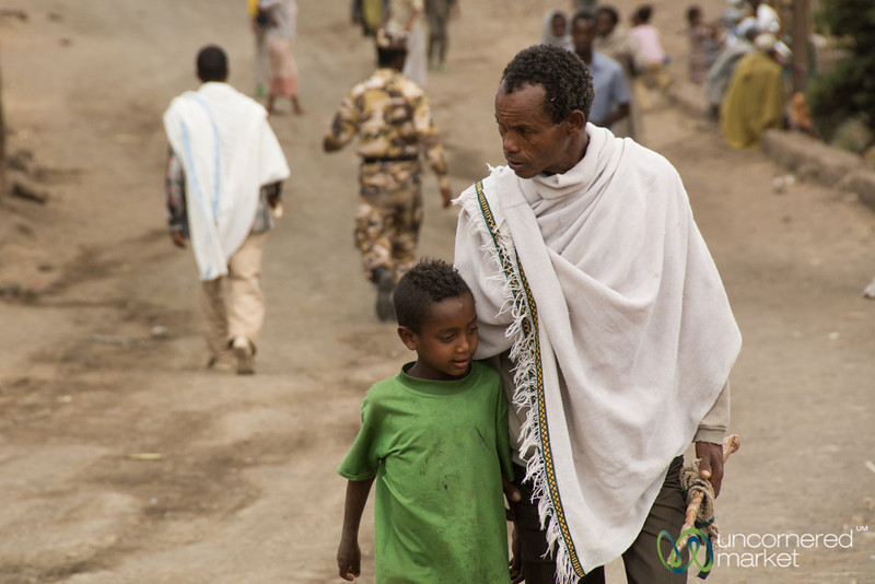 Father and Son in Lalibela, Ethiopia