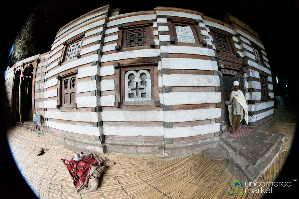 Fisheye View of Yemrehana Kristos Church - Lalibela, Ethiopia