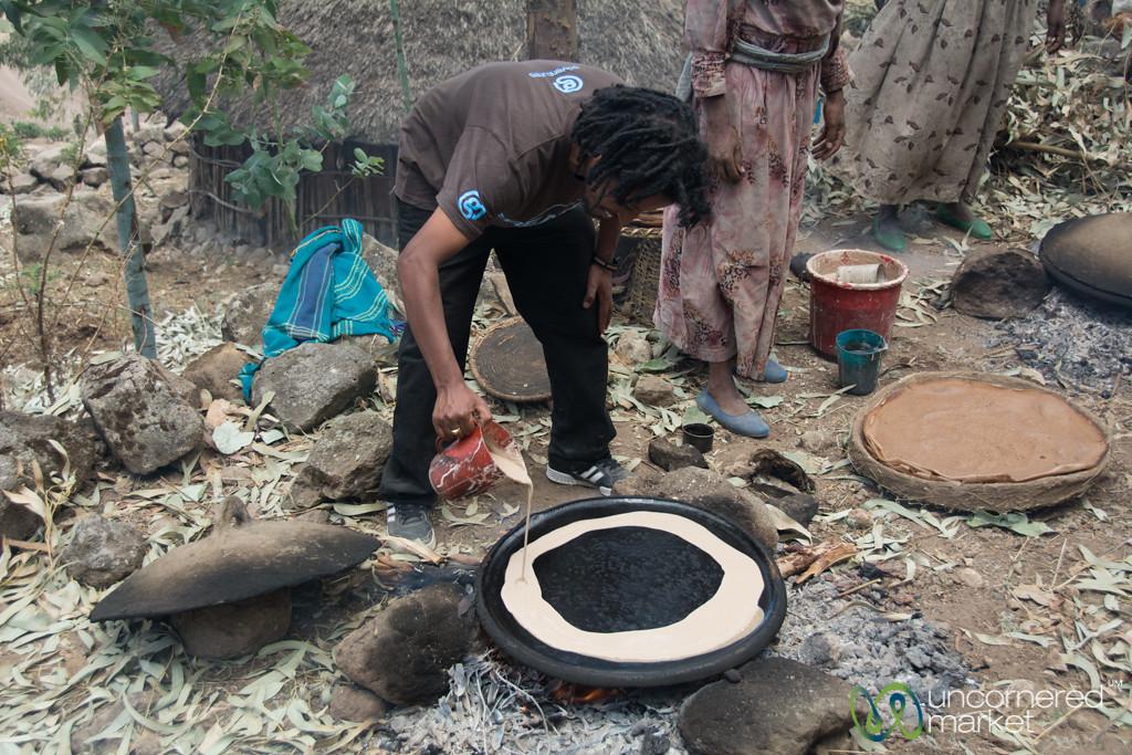 Our G Adventures CEO Makes Injera - Lalibela, Ethiopia