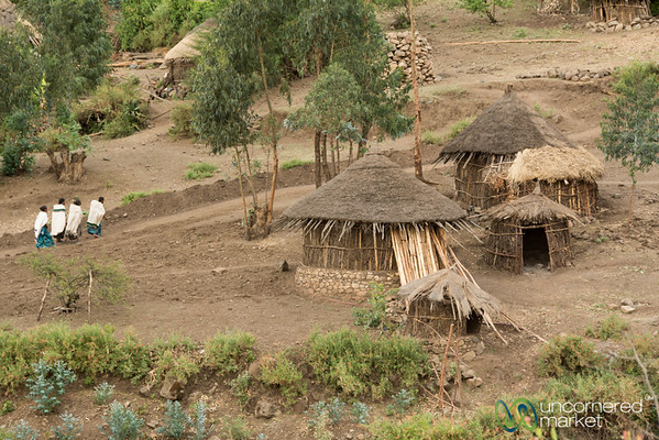 Rural Ethiopia Scene Outside Lalibela