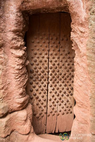 Ancient Lalibela Church Door - Ethiopia