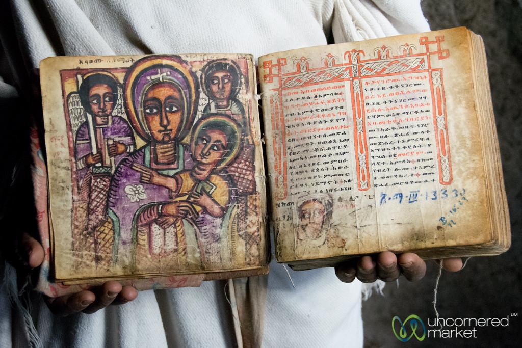 Old Ethiopian Religious Books in Ge'ez Language - Ashetan Maryam, Lalibela