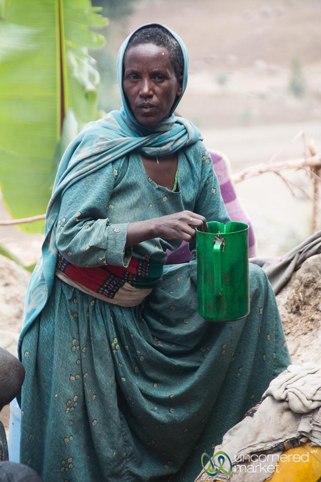 Mixing Up Drinks, Wedding Preparation - Lalibela, Ethiopia