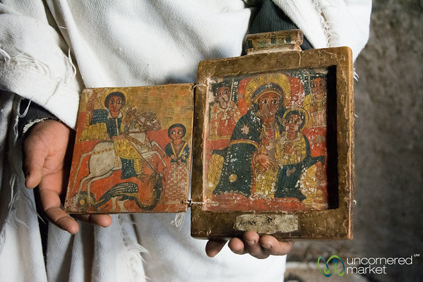 Ancient Ethiopian Religious Paintings - Lalibela, Ethiopia