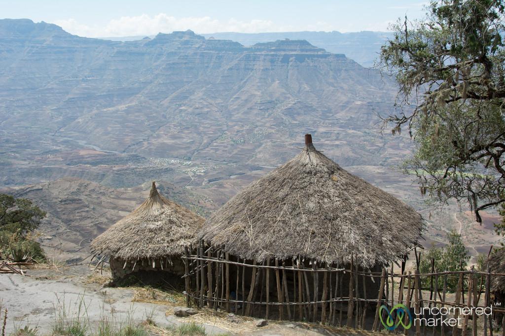 Huts in the Hills near Lalibela, Ethiopia