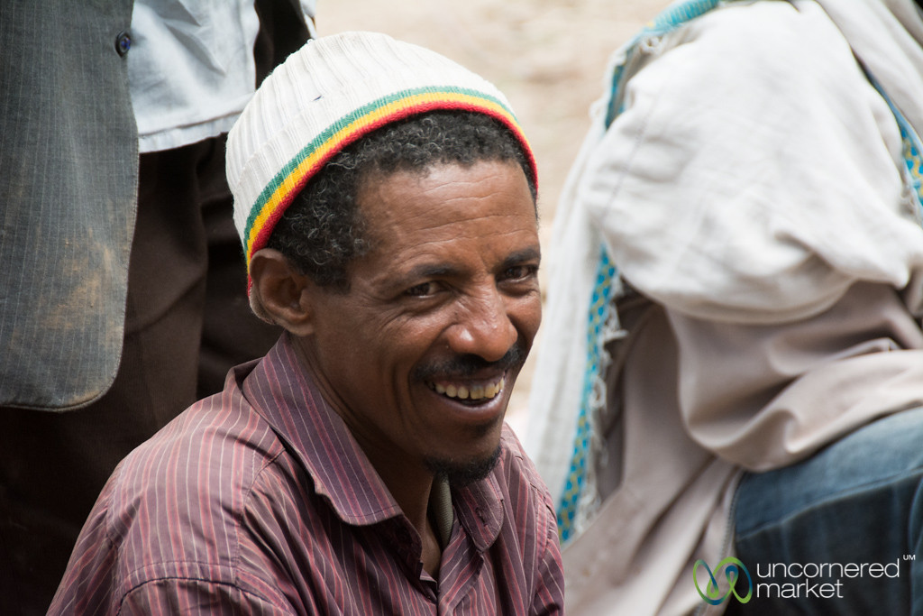 Ethiopian Man Helps with Wedding Preparation - Lalibela, Ethiopia