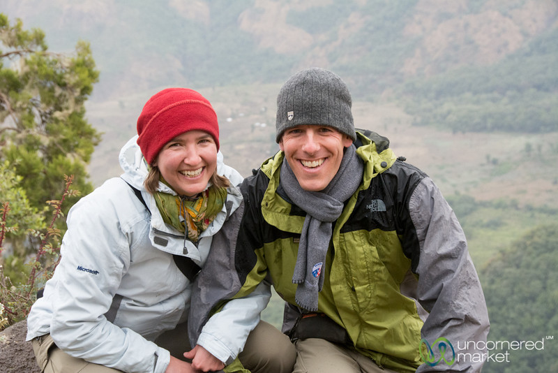 Dan and Audrey in the Simien Mountains, Ethiopia
