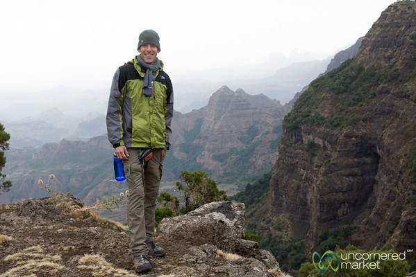 Dan in the Simien Mountains - Northern Ethiopia