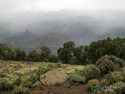 Entering the Simien Mountains of Ethiopia