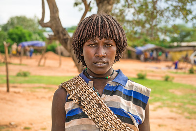 Woman from the Hamar tribe in south Ethiopia