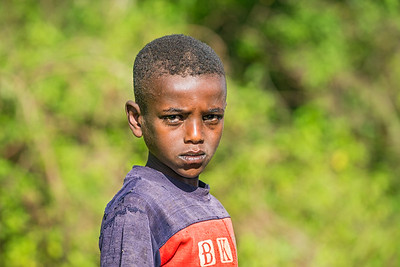 Young Ethiopian boy poses for a portrait