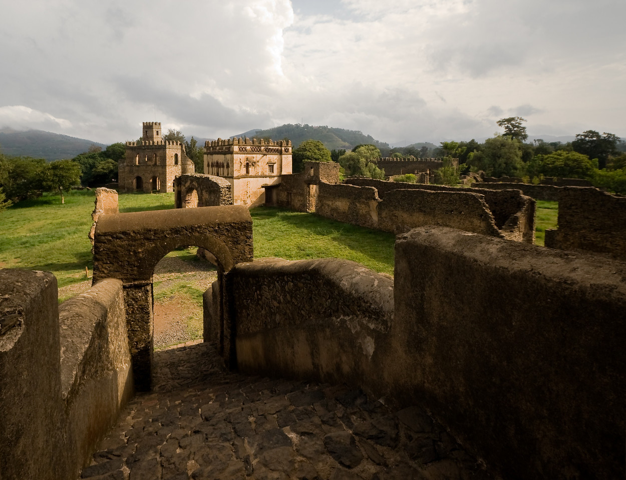 Castles in sub-Saharan Africa?  Yup, and Ethiopia's got one.<br /> <br /> Location: Gondar, Ethiopia<br /> <br /> Lens used: 10-22mm f3.5-4.5