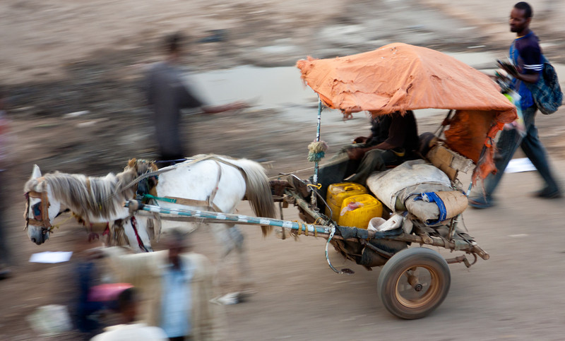 Cart, at pony speed.<br /> <br /> Location: Harar, Ethiopia<br /> <br /> Lens used: 24-105mm f4.0 IS