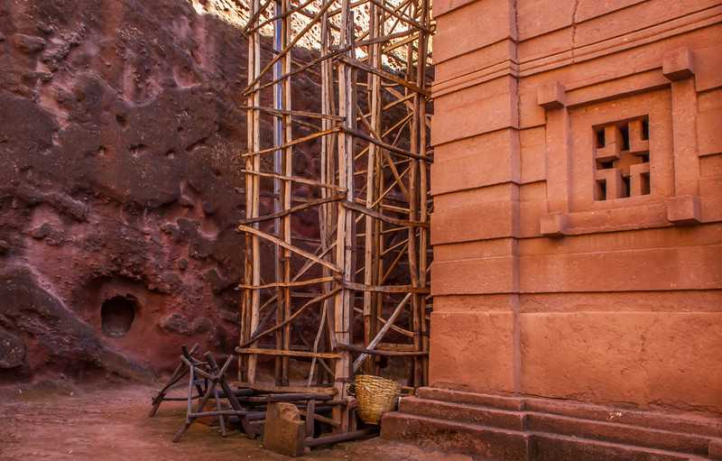 Rock Wall and Hewn Church, Lalibela, Ethopia