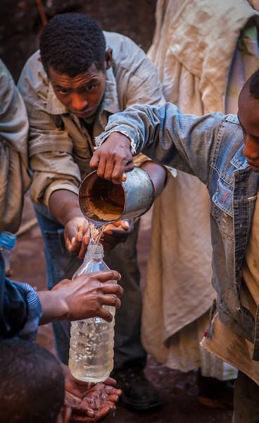 Pouring Holy Water, Lalibela, Ethopia