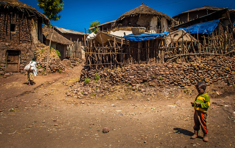 Homes on City Streets, Lalibela, Ethopia