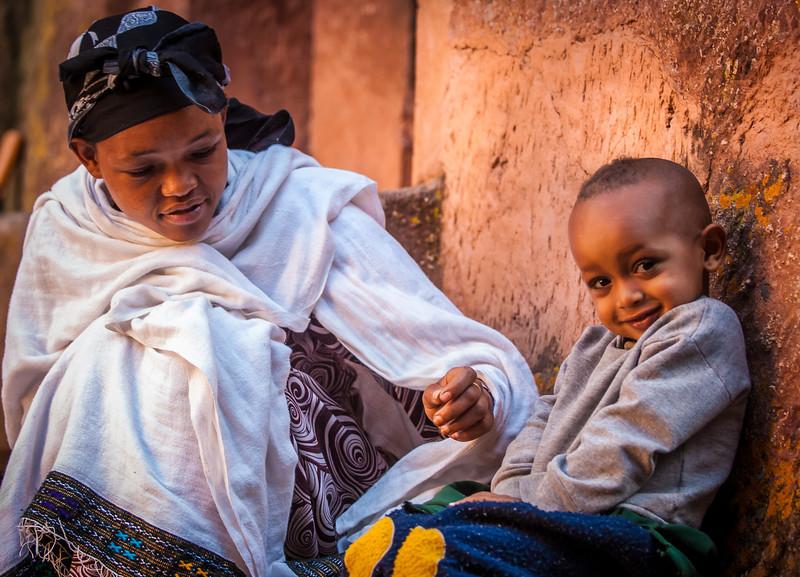 Mom and Boy, Lalibela, Ethopia