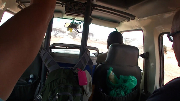 Holy Jesus! This road into Amboseli was so incredibly bumpy, we weren't sure if we'd make it with all four tires intact.