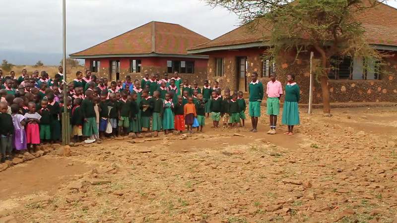 More singing from the school kids