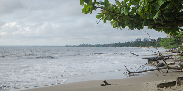 The beach by Yvette's house...