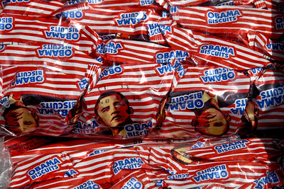 Obama biscuits....he was here a few years ago...