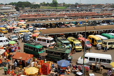 Kumasi market...I took a look from here and decided there was NO WAY I could go in there!