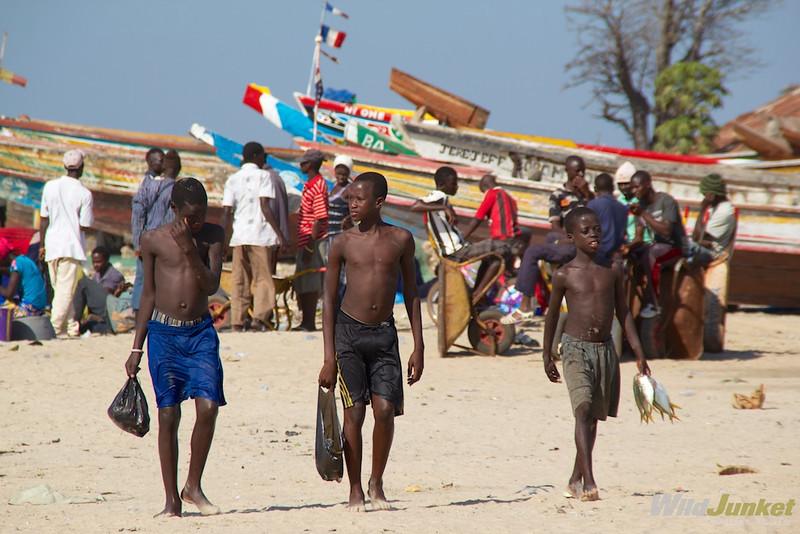 Boys at Tanji Village