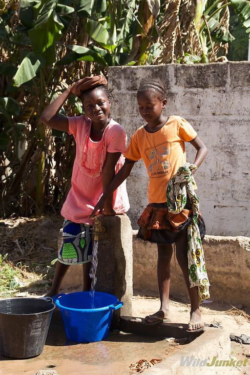 Children at a well