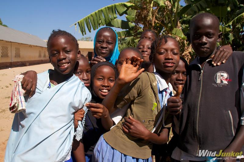 Children at Brufut Lower Basic School