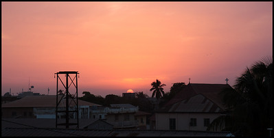 Sunset over Banjul
