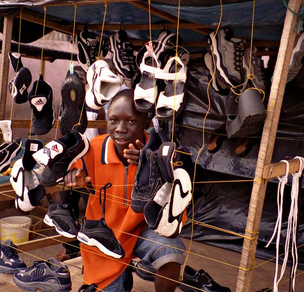 Shoe seller, Kumasi, Ghana
