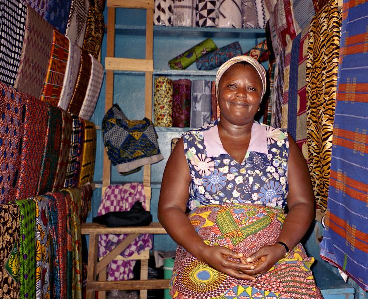 Fabric seller, Kumasi, Ghana