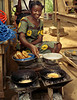 Fritter seller, Kpalime, Togo.  Those fried cakes were some of the best things I tried on that trip.