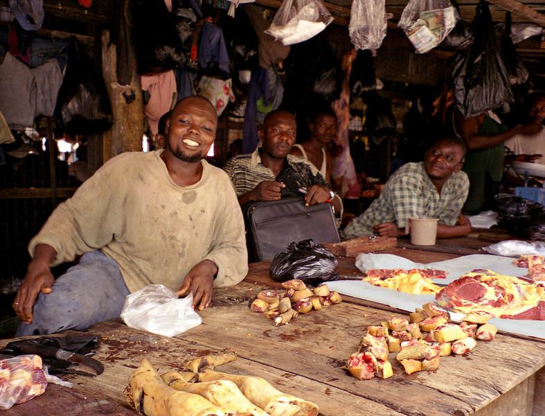 Butcher, Kumasi, Ghana.  This was a halal butcher.