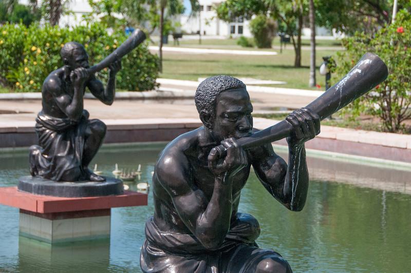 Statues in Kwame Nkrumah Mausoleum in Accra, Ghana