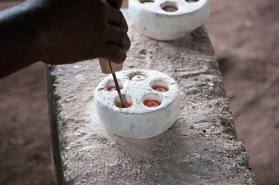 Bead factory in Accra, Ghana