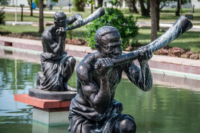 Statues at Kwame Nkrumah Mausoleum memorial park, Accra, Ghana