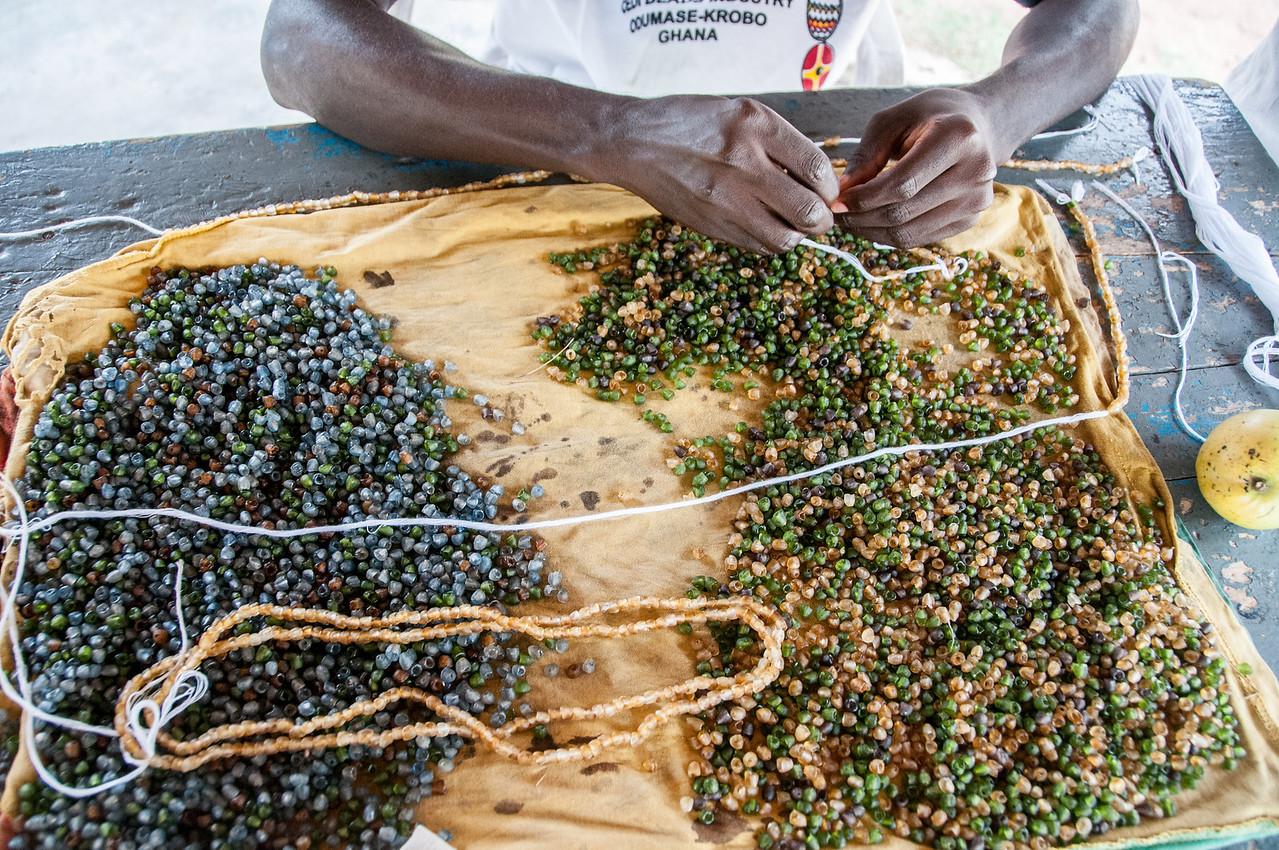 Bead making in Accra, Ghana