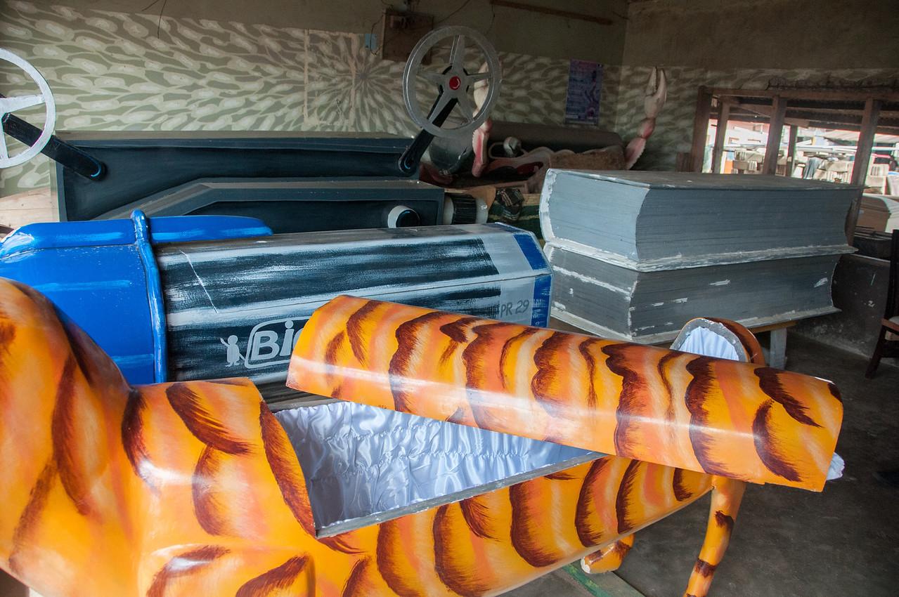 Creative coffins in Accra, Ghana