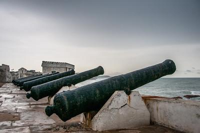 Cannons at Cape Coast Castle in Takoradi, Ghana