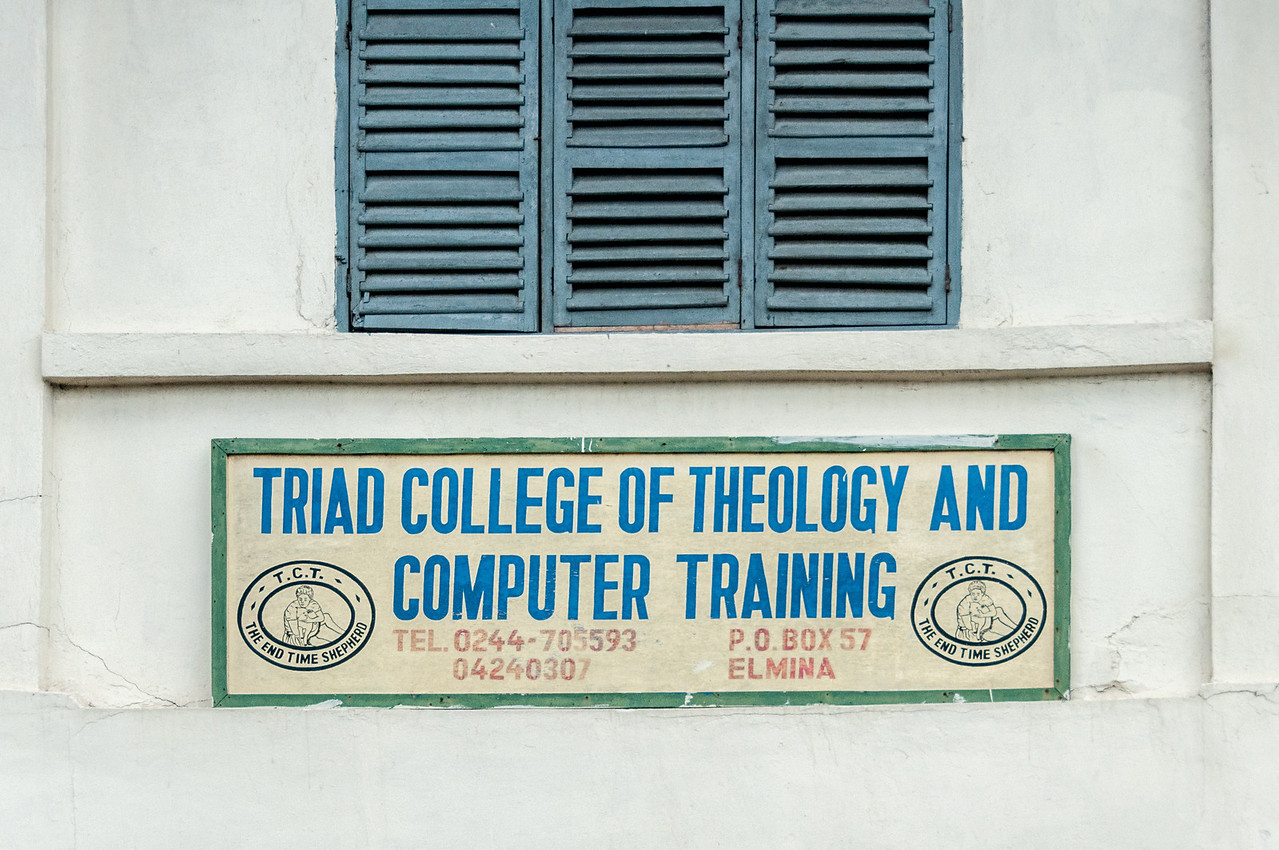 Sign at a college in Takoradi, Ghana