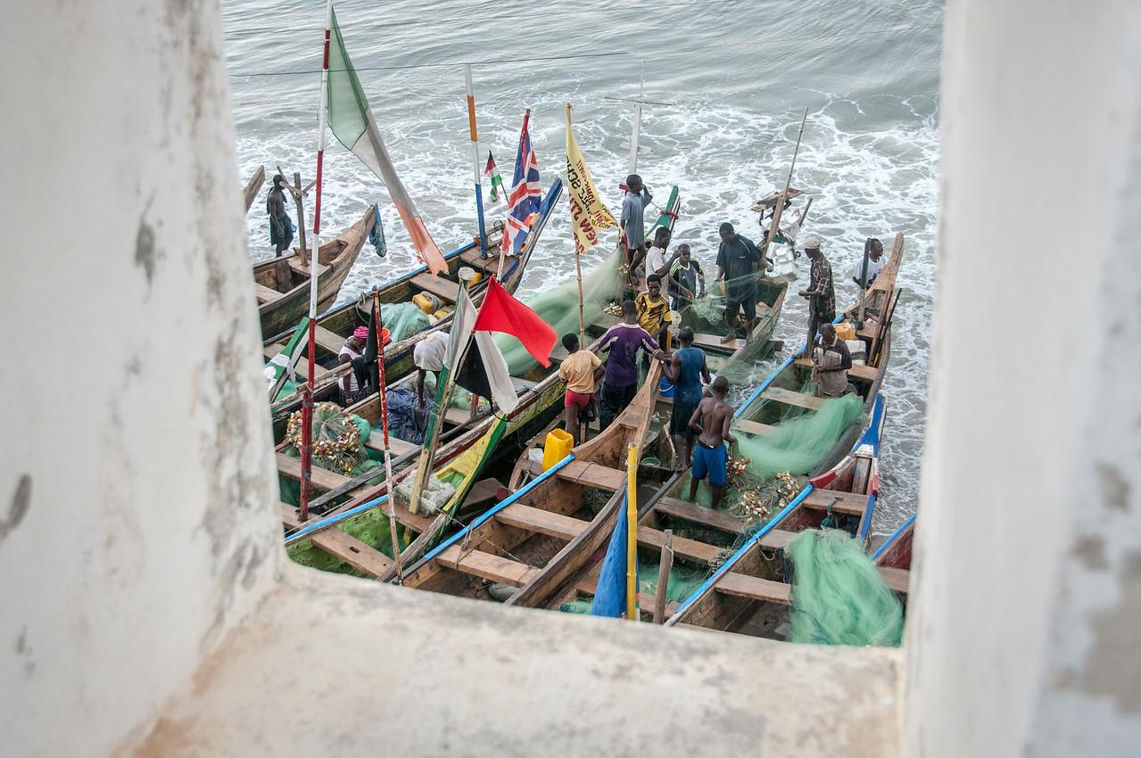 Fishing village in Takoradi, Ghana
