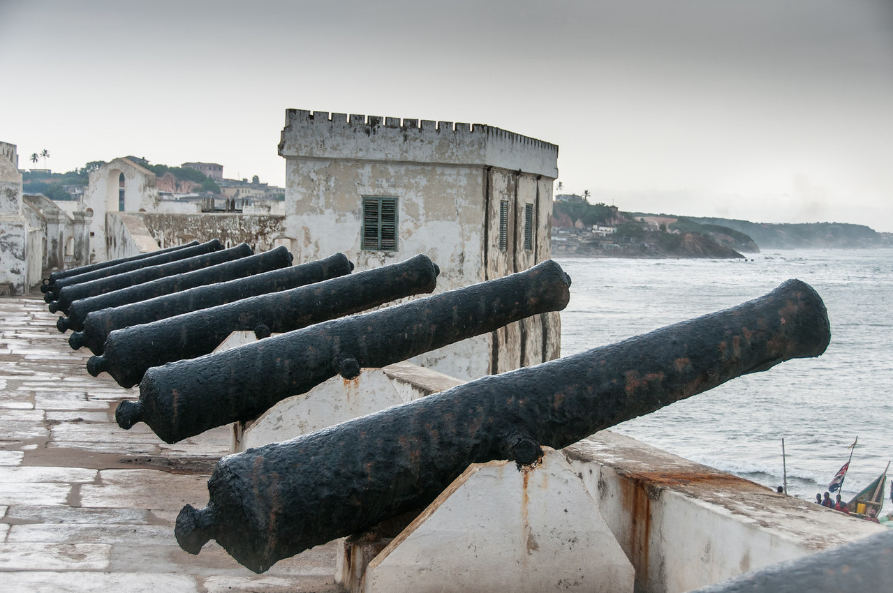 Cannon in Cape Coast Castle in Takoradi, Ghana