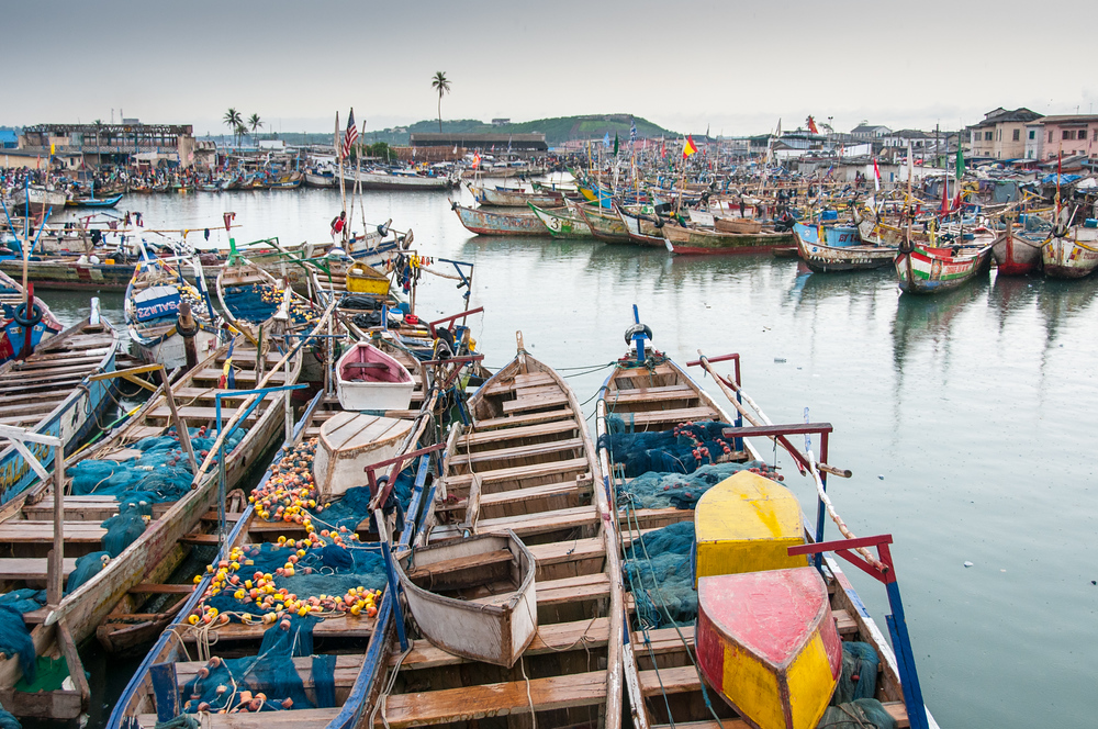 Fishing Fleet in the Town of Elmina, Ghana
