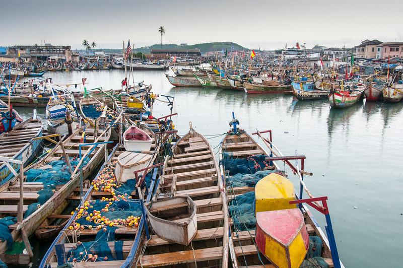 Fishing boats in Takoradi, Ghana