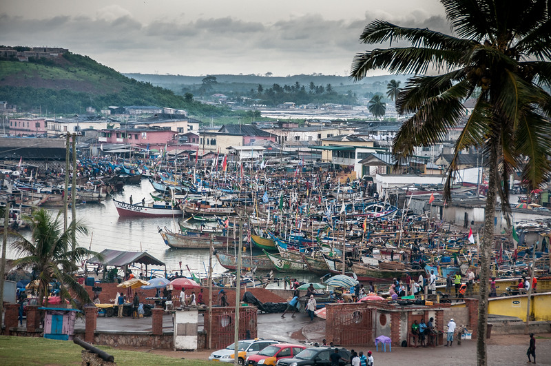 Fishing village in Takoradi, Ghana
